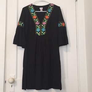 Cache Floral Embroidered Dress Size L